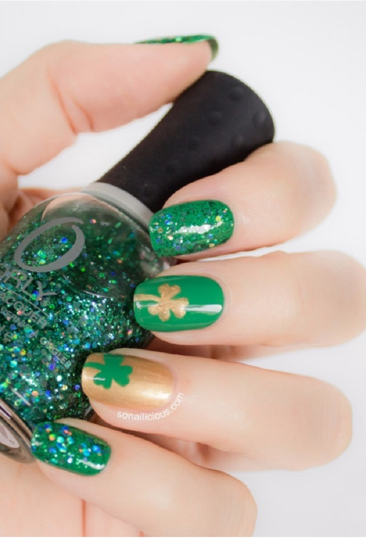 Nail Art Ideas shamrock nail art tutorial : Top 10 Lucky Shamrock Nail Art Tutorial For St. Patrick's Day ...