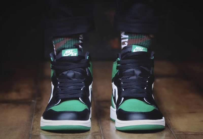 2a8c43f9fc9e Air Jordan 1 Retro High OG Pine Green Shoes 555088 302 On Feet Head Image -