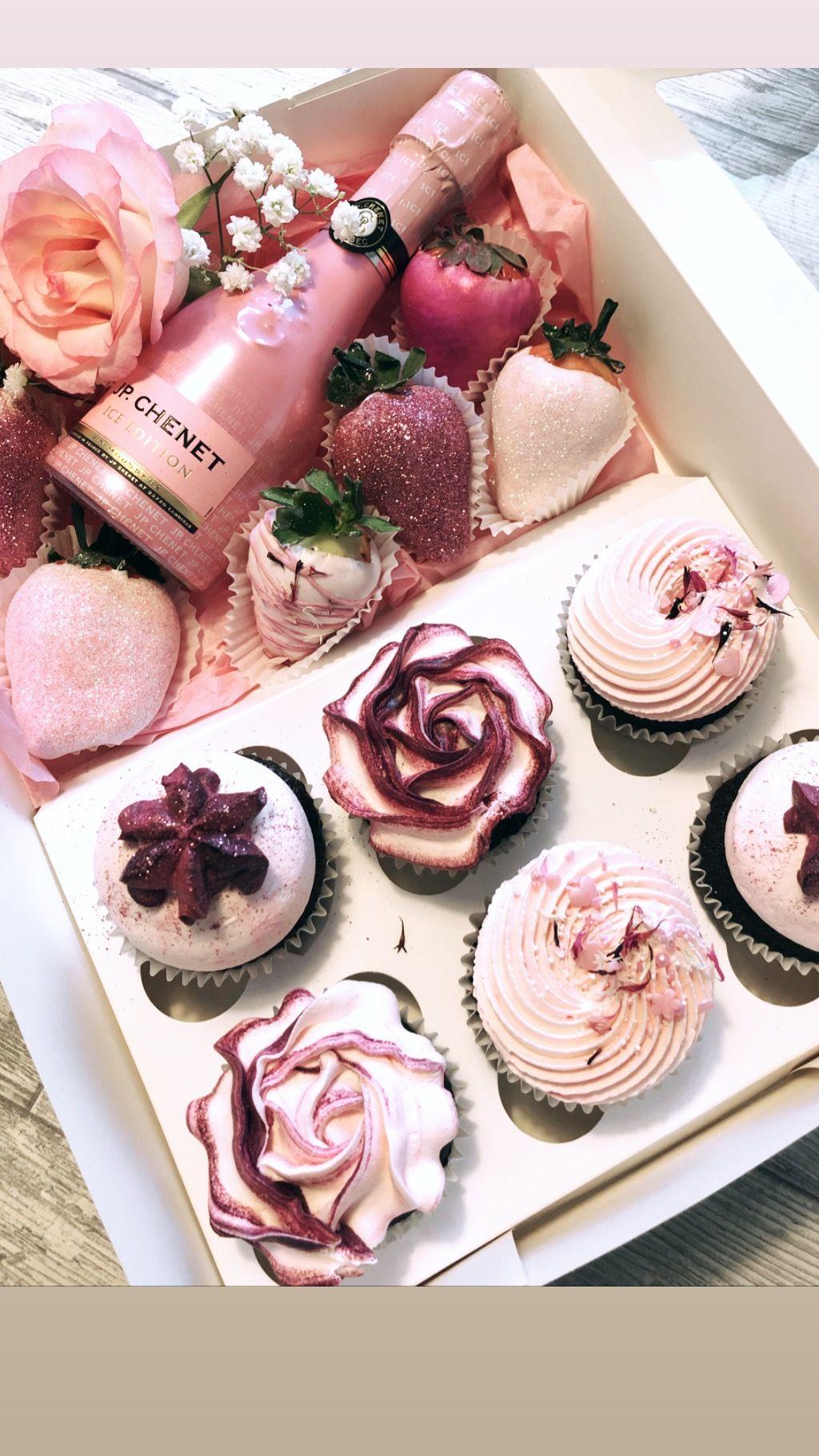 Cupcake gift box dessert gifts valentines baking gift