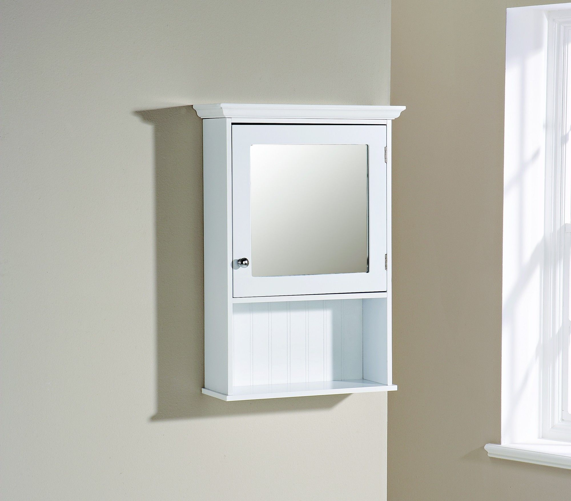 bathroom mirror cabinet with shaver socket and light ...