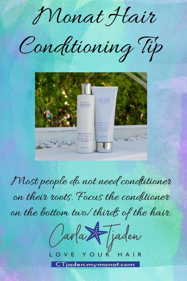 Focus conditioner on the ends. Want to try Monat shampoo and conditioner samples? I can take care of that for you! #monat #haircare #shampoo #hairtips #healthyhair