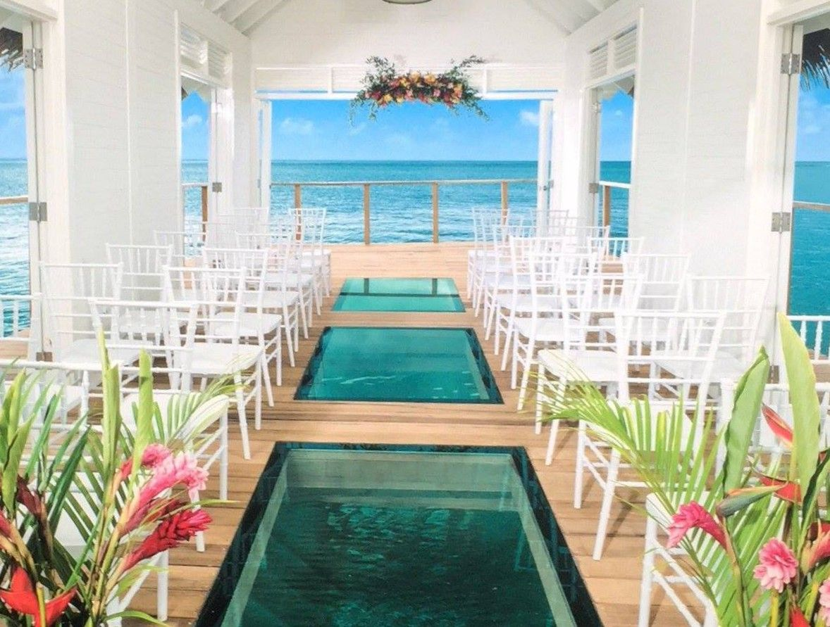 New Over The Water Chapel At Sandals South Coast Jamaica Destination Weddings Wedding Location Destination Wedding Jamaica Jamaica Wedding Water Wedding