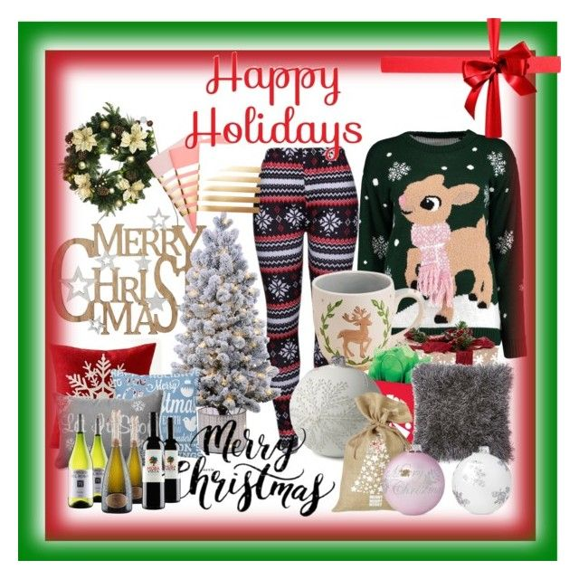 """Merry Christmas"" by hcps-pettewasm ❤ liked on Polyvore featuring interior, interiors, interior design, home, home decor, interior decorating, M&Co, WithChic, Boohoo and Glory Haus"