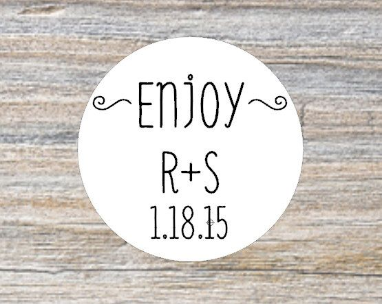 Enjoy custom wedding stickers personalized stickers wedding favors favor bag stickers envelope seals gift tag sticker rustic favors