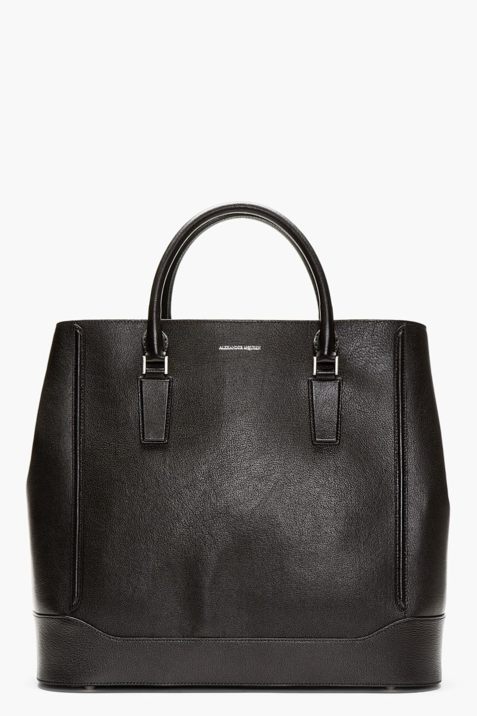 Black Leather Oversize Heroic Tote