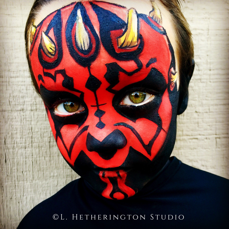 Darth Maul By L Hetherington Studio Face Painting Easy Darth Maul Face