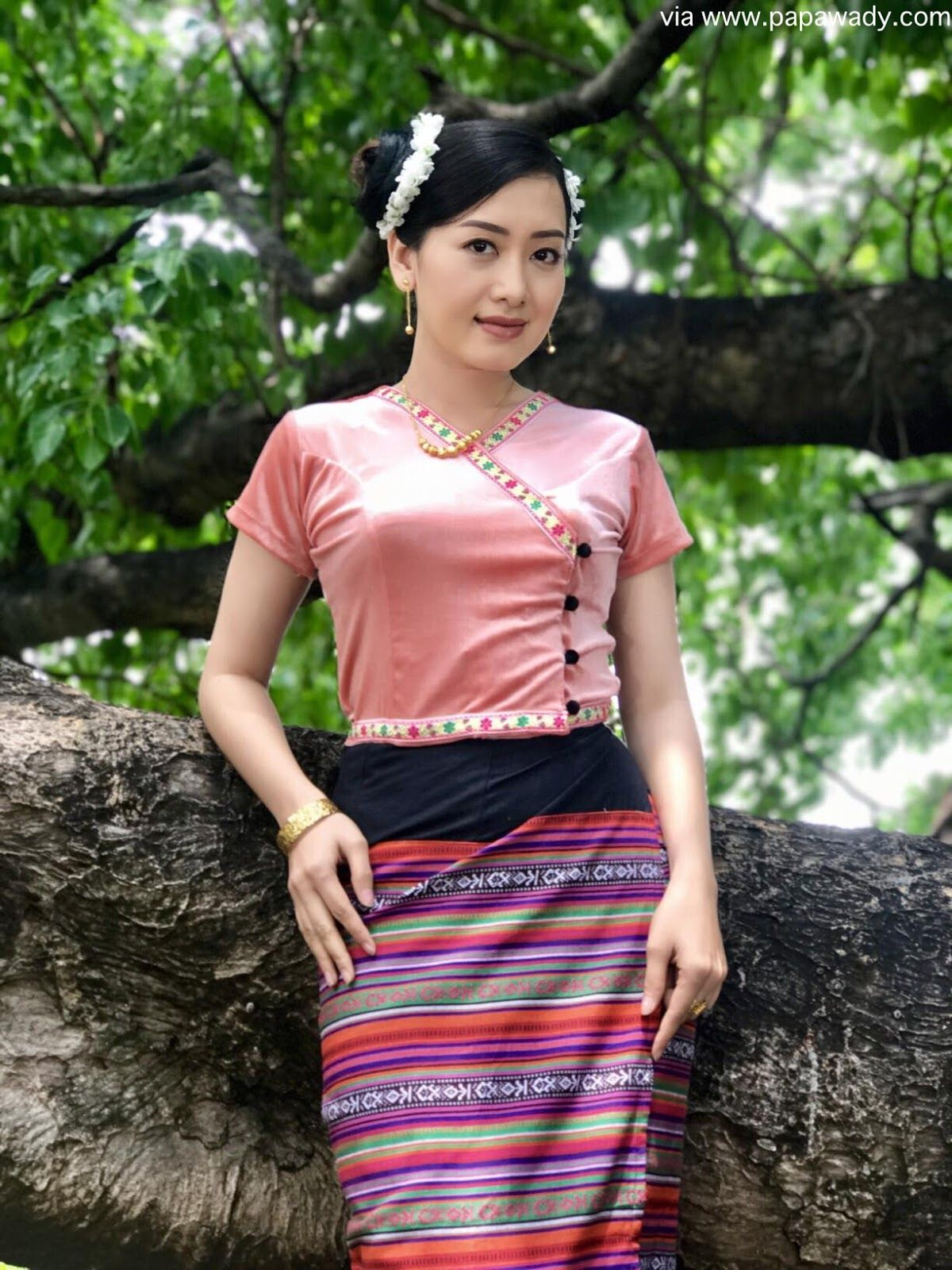 Yu Thandar Tin Fashion Style As A Myanmar Village Girl -4030
