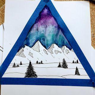 4th & 5th grade Jen Aranyi inspired Winter Landscapes