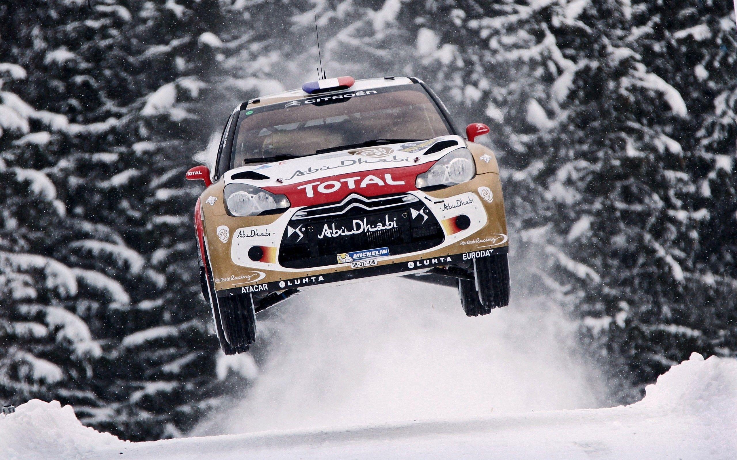 Loeb World Championship Car Jump Citroen Ds3 Wallpaper Veiculos