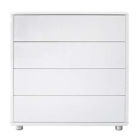 soho white gloss 4 drawer chest drawers soho and high gloss