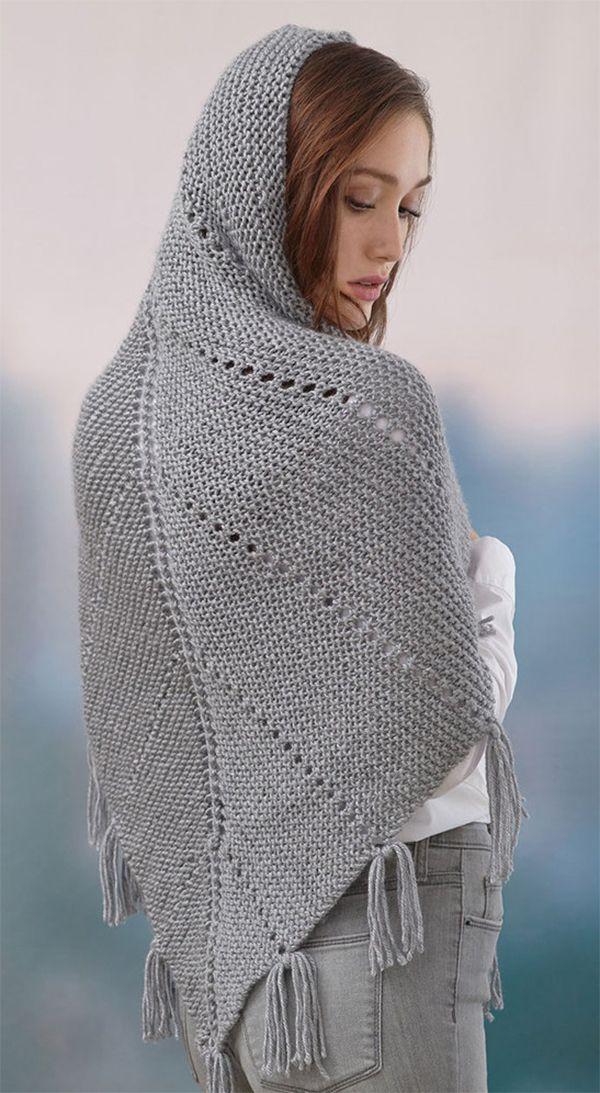 Easy Shawl Knitting Patterns | Needlework~knit poncho, shawl ...