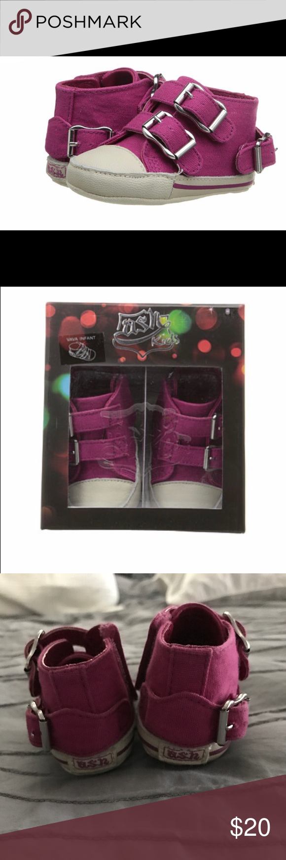 1444cae248 Ash kids size 2 sneakers Infant size 2 Ash kids sneakers in EUC. They have  been worn a handful of times by a non walker. They have great details and  Velcro ...