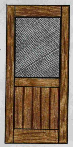 Attractive Southwestern Screen Door