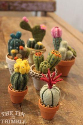 Level 1: Needle Felted Cactus - Part of Felt Fest 2017! - The Tin Thimble