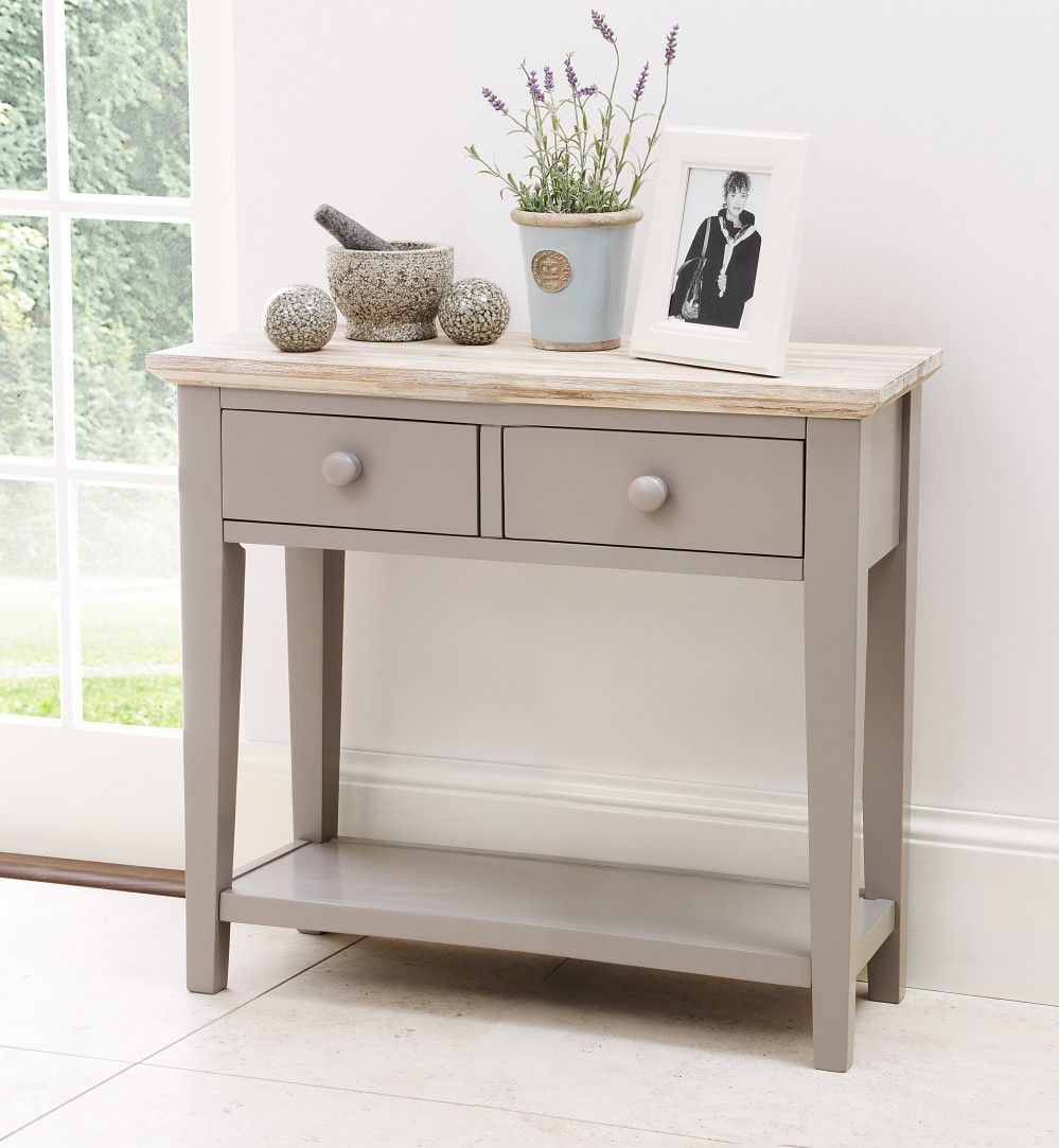 florence grey console table with 2 drawers painted furniture
