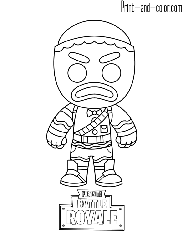 Fortnite battle royale coloring page Gingerbread