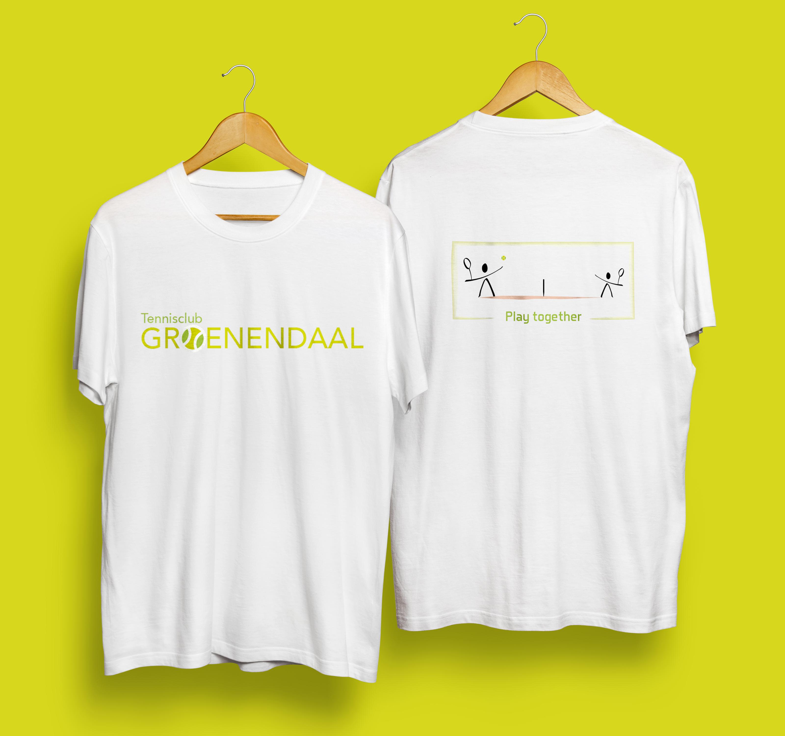 Mannen T-shirt: voor- en achterzijde