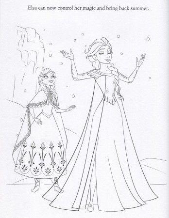 FROZEN Elsa Anna Coloring Page