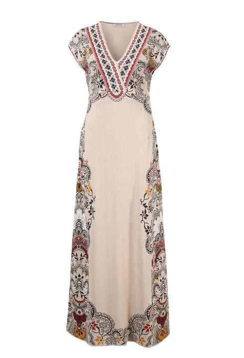 Long Dress Intarsia Pattern - Dress   Ivko Woman