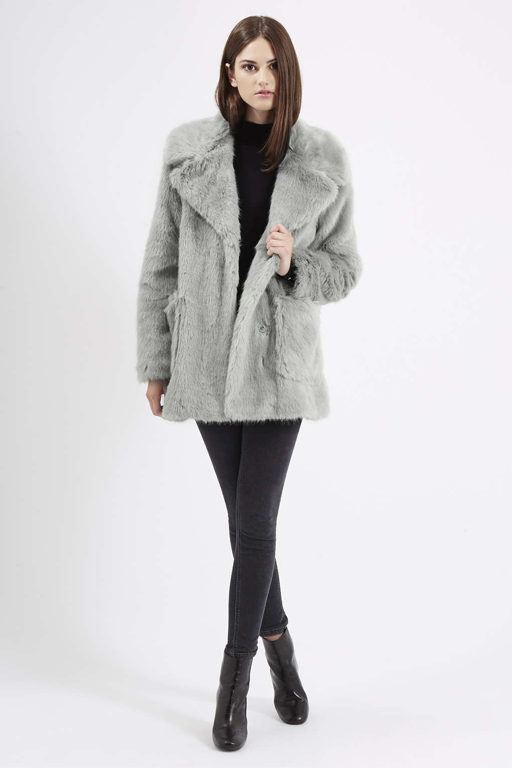 Patch Pocket Luxe Faux Fur Coat | Fur coat, Fur and Topshop