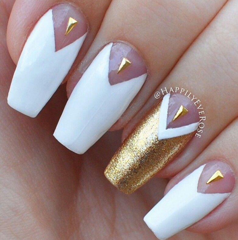 #nails #nailart #gold