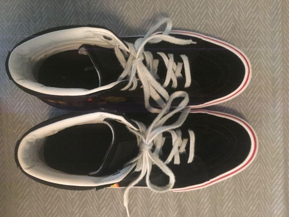 e415dcff789e NIB VANS Men s SK8-Hi Thrasher Black Flame High Tops Skate Shoes Sneakers   fashion