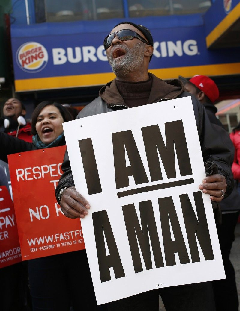 Fast food workers are not your slaves fast food workers