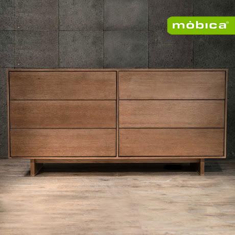 Comoda elios fabricada en tonos de madera de color natural - Patas para comodas ...