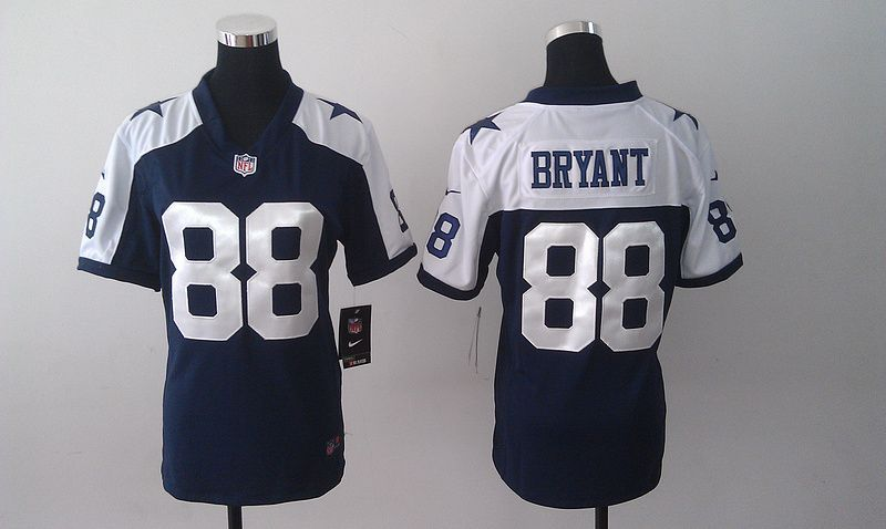7b81671fc Womens Dallas Cowboys 88 Dez Bryant Blue Nike Thanksgiving Jerseys ...