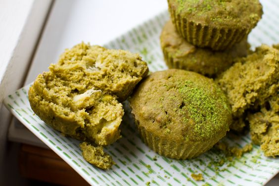 Matcha makes everything fricken good and an antioxidant power house! Even better, these are gluten free! Less evil, more goodness! Matcha Morning Muffins. Gluten-Free. -