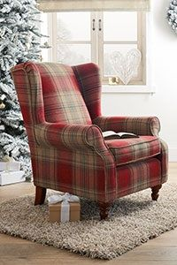 Next Sherlock Chair This And The Sofa And Footstool Are Going To Be In My Home Cant Wait | Fireside Chairs, Tartan Furniture, Tartan Chair