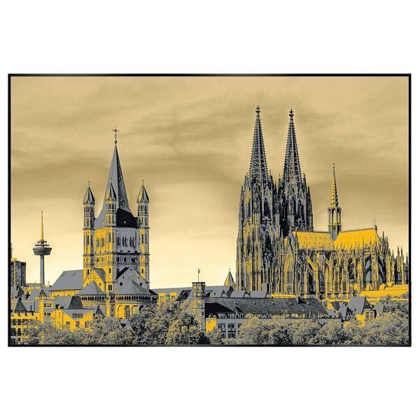 Koln Gold Shine Art 90 X 60 Cm Bilder Holzbilder