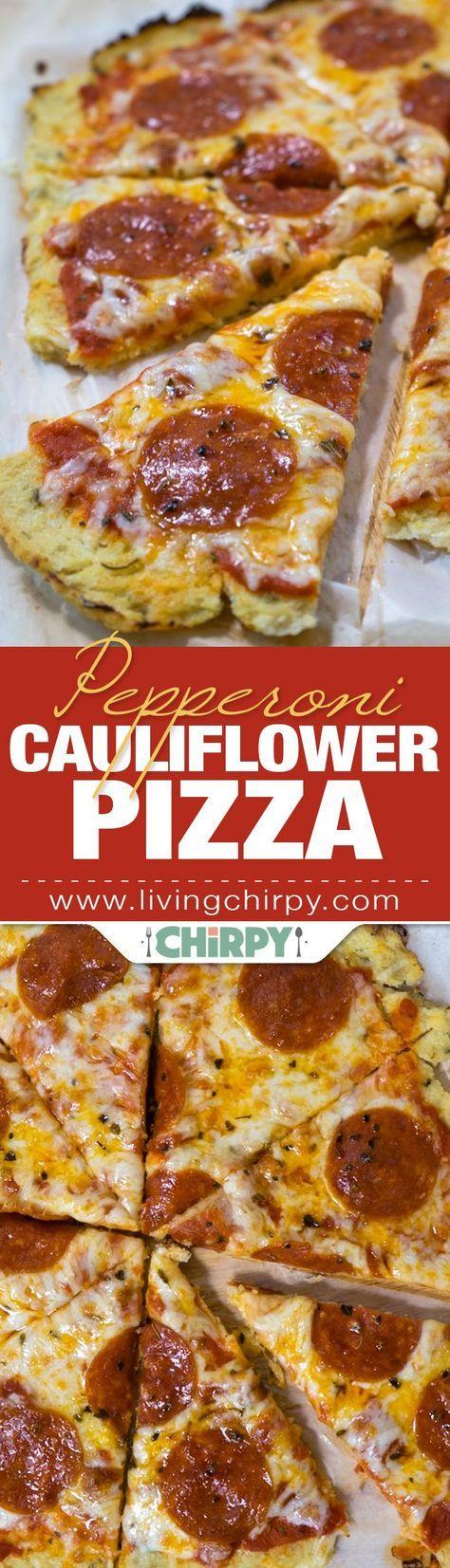 Pepperoni Cauliflower Pizza Recipe Cauliflower Pizza