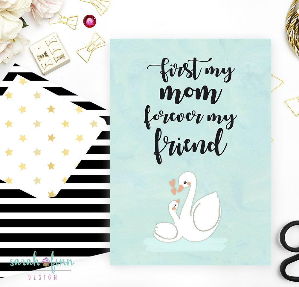 First My Mother Forever My Friend Card For Mom Mothers Day Card