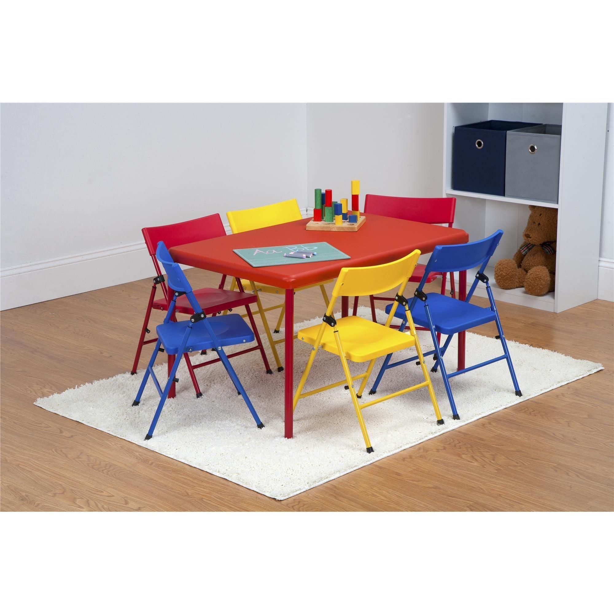 Children's Trestle Table Cosco Safety First 7 Piece Children S Juvenile Set With Pinch Free