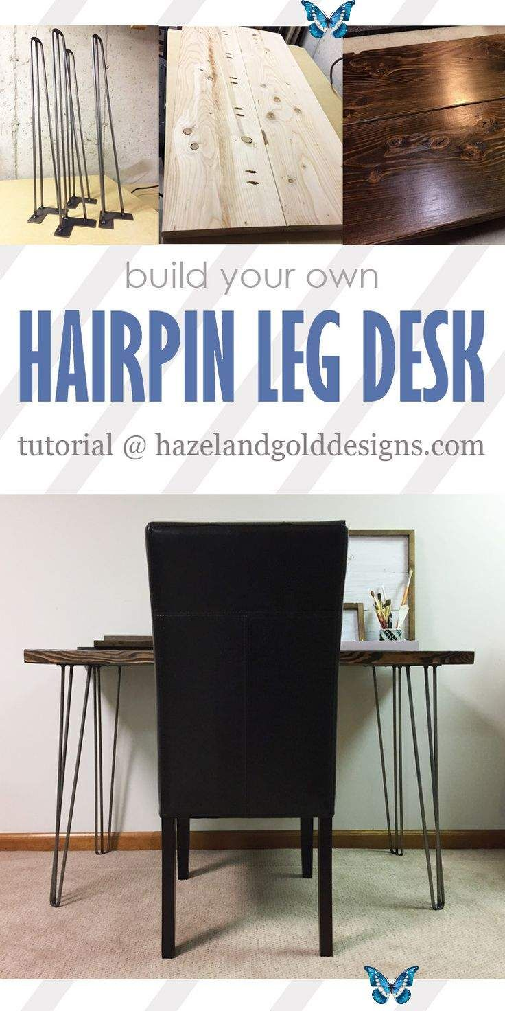 Hairpin Leg Desk Learn how to make your own DIY Hairpin