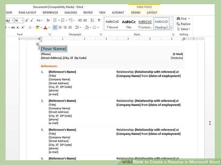 Creating a resume in word graceful how to create a resume