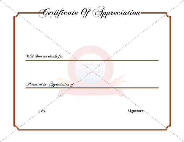 Appreication Certificate Templates Certificate Template - anniversary certificate template
