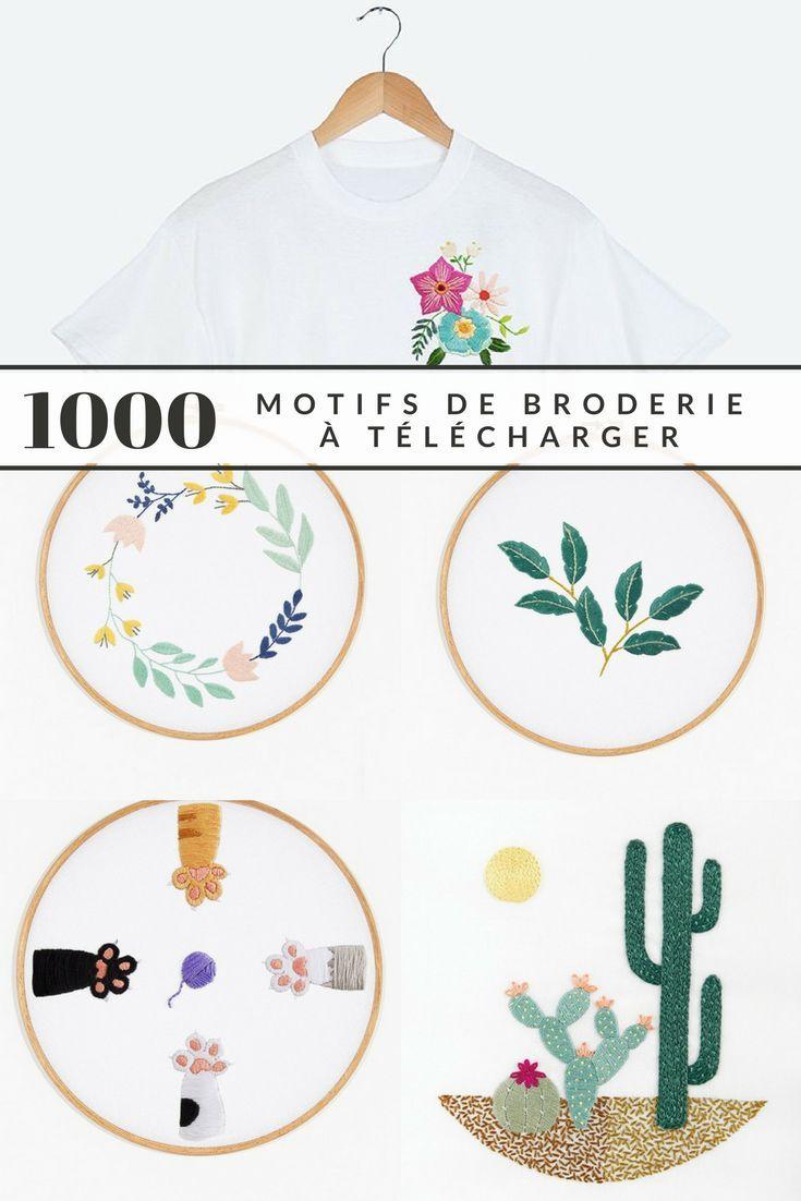 1000 motifs de broderie gratuits à télécharger