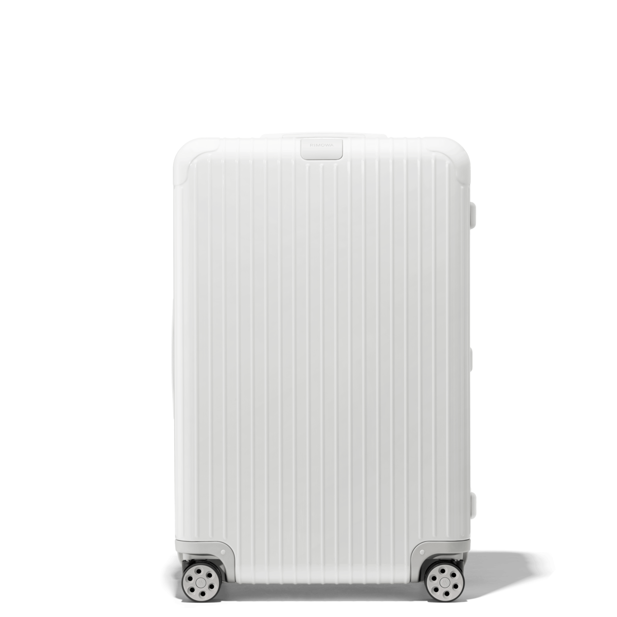 Essential Check In L Lightweight Suitcase White Rimowa In 2021 Rimowa Lightweight Suitcase Rimowa Luggage