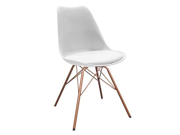 Stuhle Esszimmer Weis #24: BASIL Stuhl Esszimmer Wartezimmer Weiß U0026 Kupfer