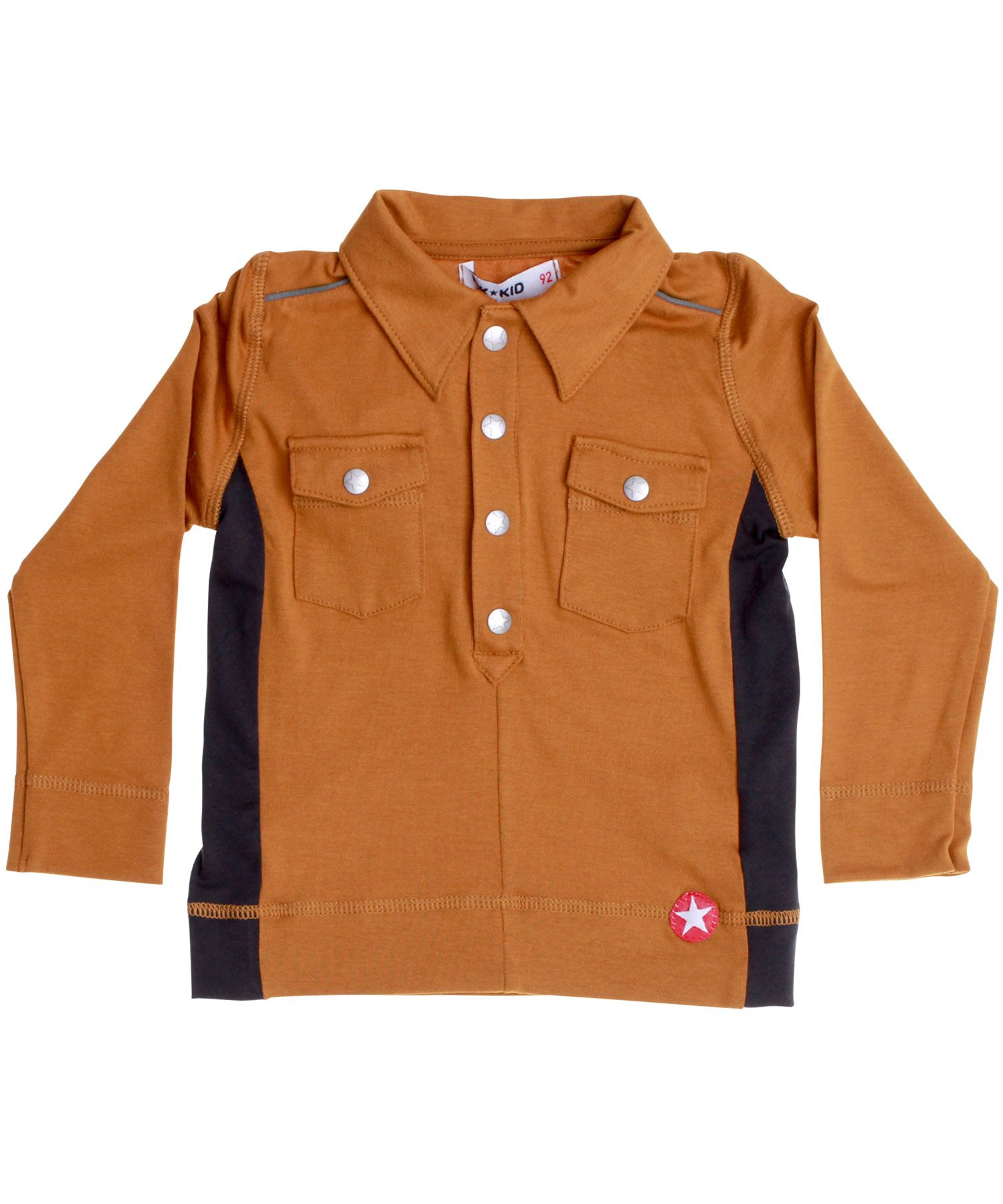6dc25ec649cee7 Kik-Kid super cool brown shirt in super soft modal. kik-kid.en.emilea.be