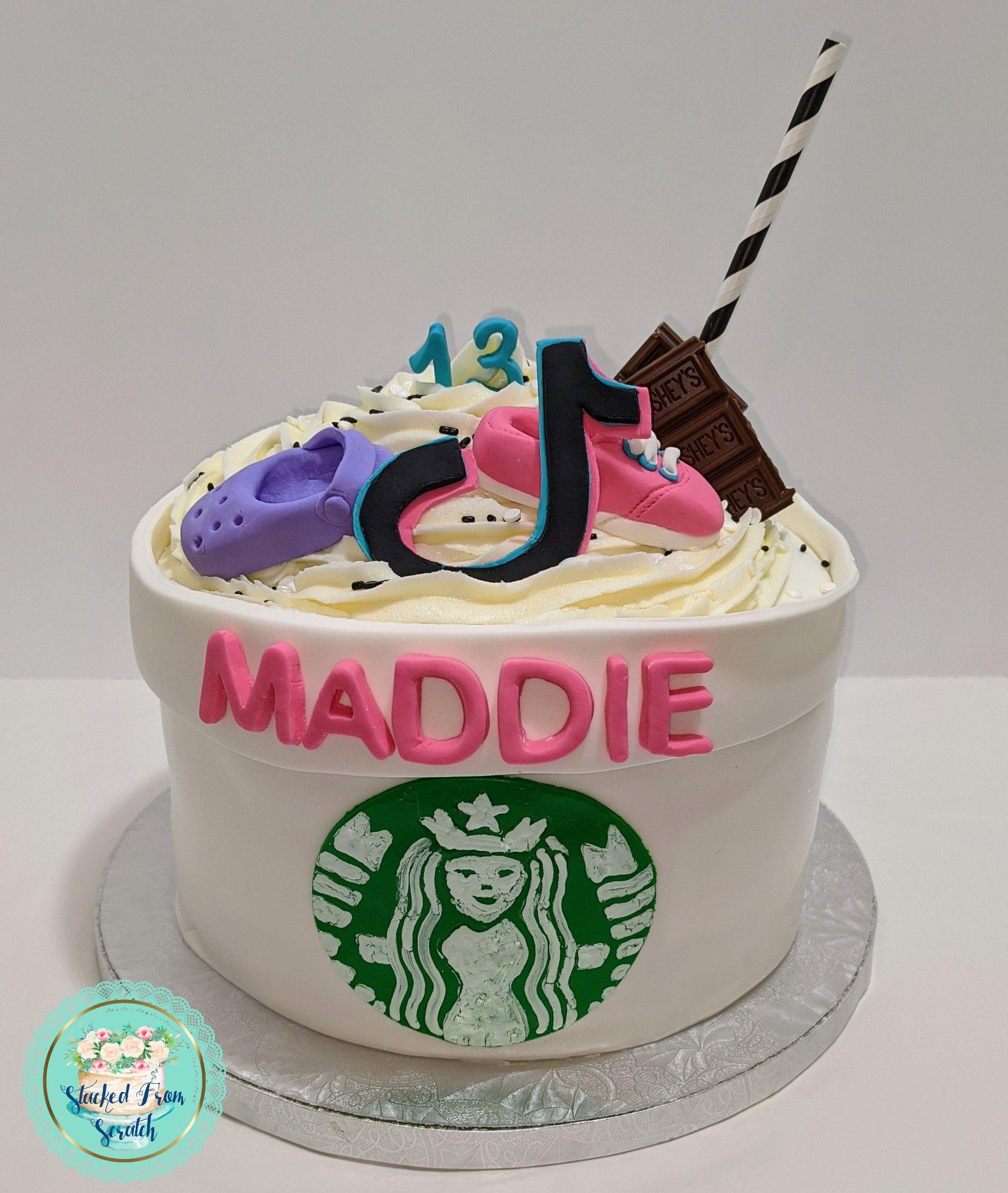 Starbucks Tik Tok Crocs And Vans Birthday Cake Cool Birthday Cakes 6th Birthday Cakes Sweet 16 Cakes