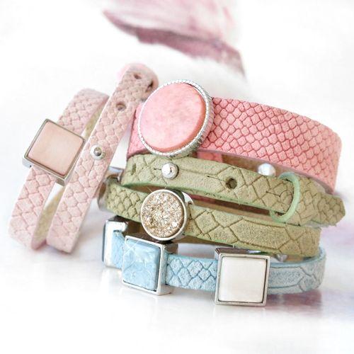 Cuoio Armband mit Reptile Motiv sind absolut schön und hipp für einen modernen und gewagten Look!