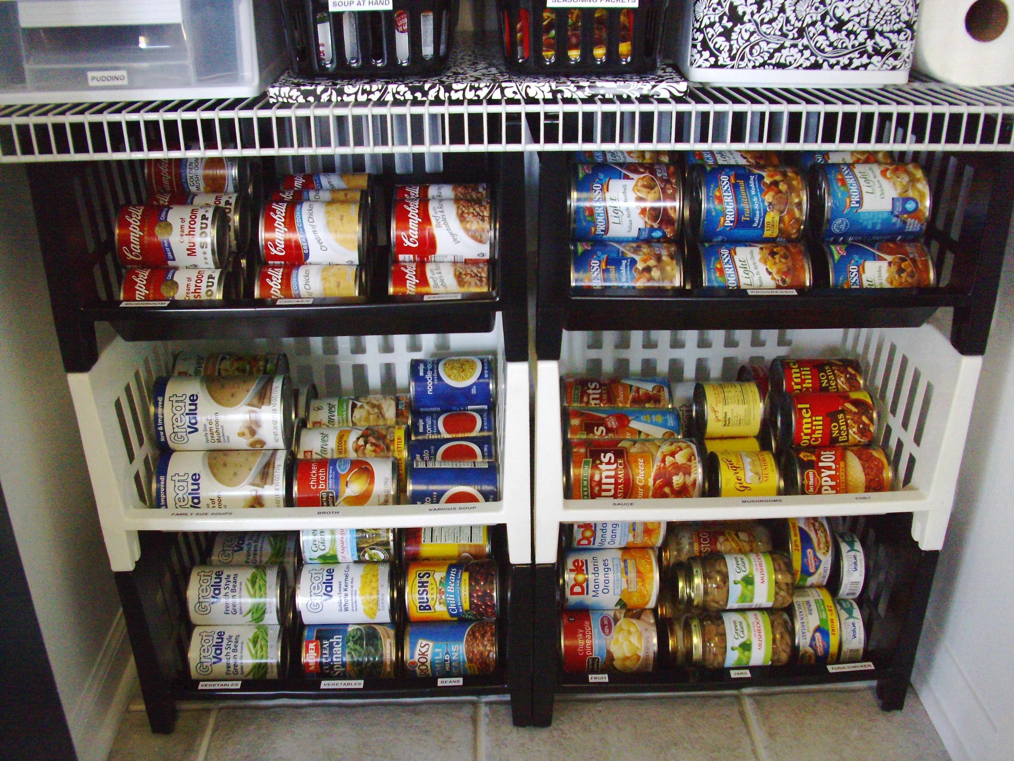 Pantry Organization I Repurposed Stacking Bins That Had Been In The Basement Forever For Organizing
