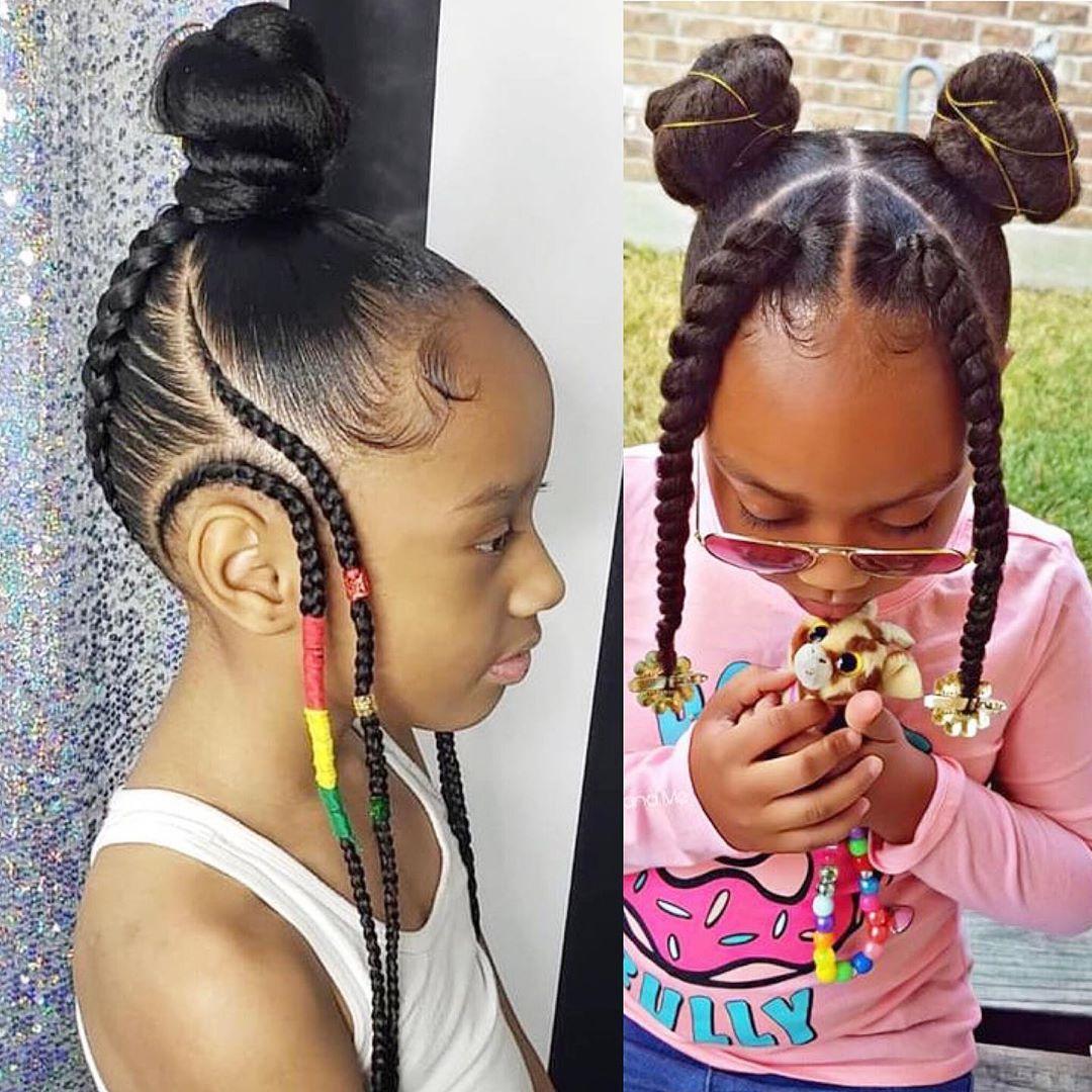 Hairstyles For Black Women On Instagram Cute Braids Braidstyles Kids Hairstyles Girls Black Kids Hairstyles Lil Girl Hairstyles