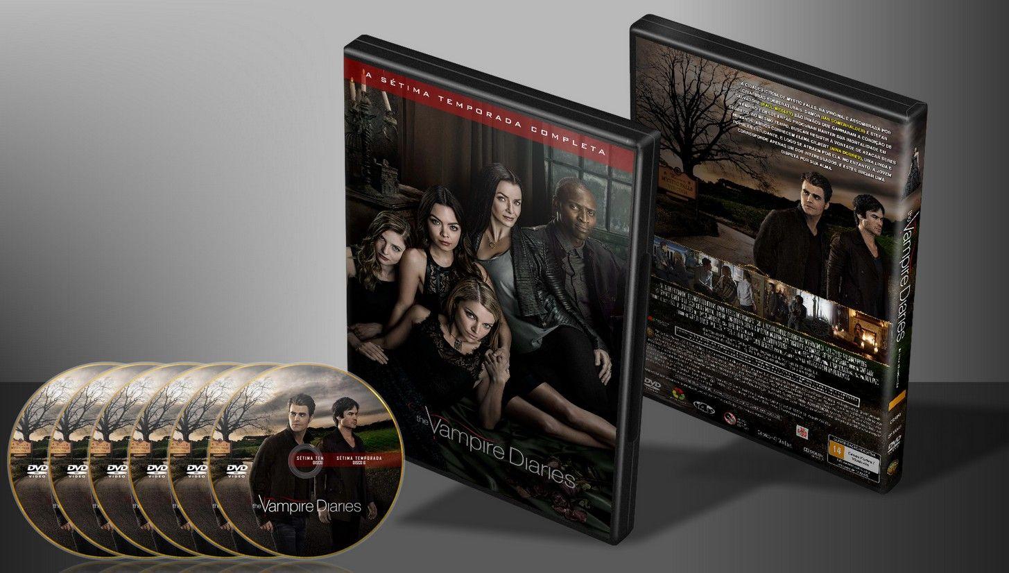 The Vampire Diaries - T07 - (Completa) - Capa   VITRINE - Galeria De Capas - Designer Covers Custom   Capas & Labels Customizados