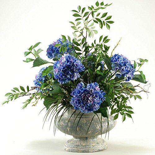 D and w silks blue hydrangeas silk flower with mixed grass check d and w silks blue hydrangeas silk flower with mixed grass check out this great mightylinksfo Images