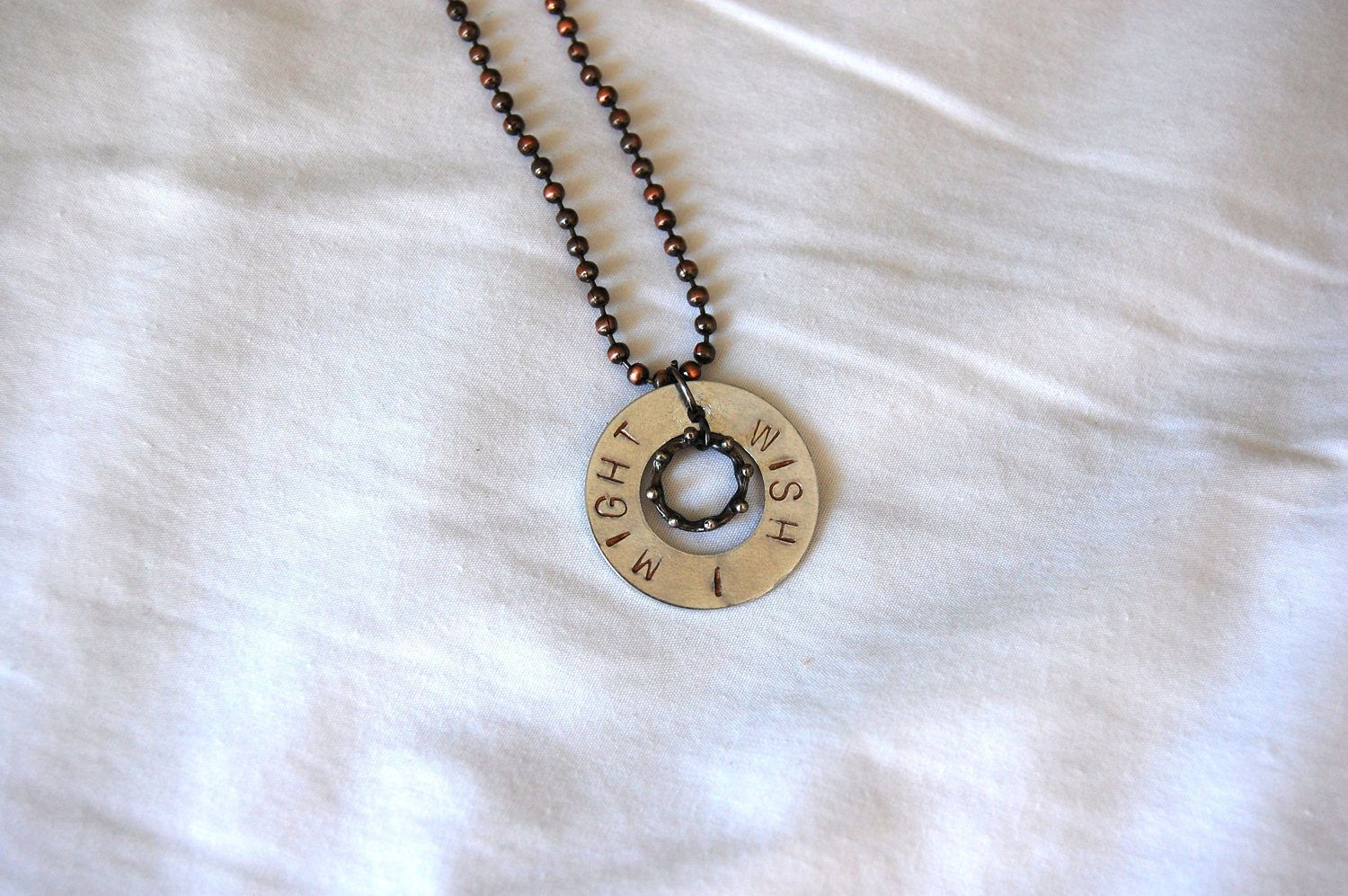 Wish I Might Necklace by Stamping4Austism on Etsy