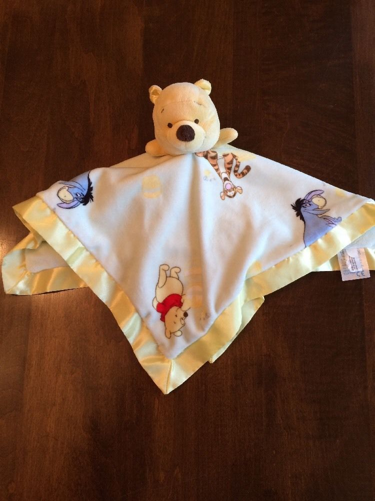 Baby Disney Winnie The Pooh Soft And Cuddly Baby Blanket Nursery Bedding